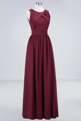 Sexy A-line Flowy Round-Neck Sleeveless Floor-Length Bridesmaid Dress UK UK with Ruffles_3