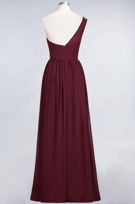 Sexy A-line Flowy One-Shoulder Sleeveless Ruffles Floor-Length Bridesmaid Dress UK UK with Beadings_3