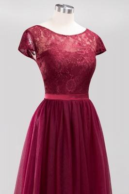 A-Line Light Chiffon Jewel Sleeveless Sweep Train Bridesmaid Dress UKes UK UK with Ruffles_5