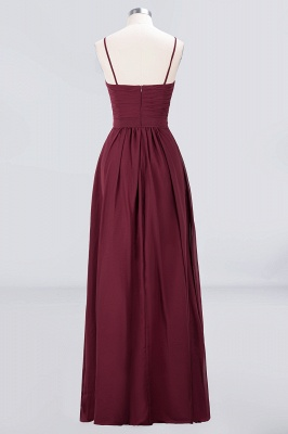 Sexy A-line Flowy Sweetheart Spaghetti-Straps Backless Floor-Length Bridesmaid Dress UK UK with Ruffles_2