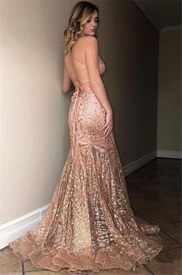 Elegant Hot Sleeveless Spaghetti Straps Sweep Train Elegant Mermaid Prom Dress UK UK_2