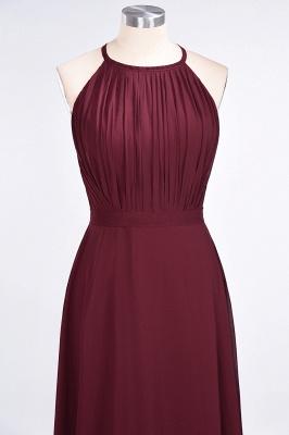 Sexy A-line Flowy Jewel Sleeveless Floor-Length Bridesmaid Dress UK UK with Ruffles_4