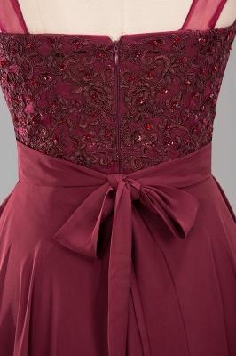 A-Line Light Chiffon Tulle Lace Beadings Jewel Sleeveless Sweep Train Bridesmaid Dress UKes UK UK with Sash_6