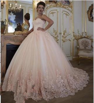 Stunning Sleeveless Tulle Appliques Ball Gown Prom Dress UK UK_1