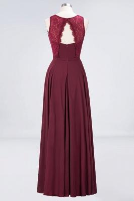 Sexy A-line Flowy Lace Jewel Sleeveless Hollowout Floor-Length Bridesmaid Dress UK UK_2