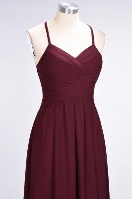 Sexy A-line Flowy Halter Alluring V-neck Sleeveless Floor-Length Bridesmaid Dress UK UK with Ruffles_6