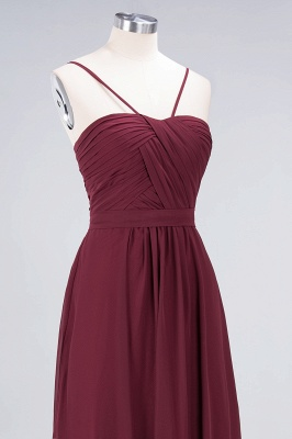 Sexy A-line Flowy Sweetheart Spaghetti-Straps Backless Floor-Length Bridesmaid Dress UK UK with Ruffles_5