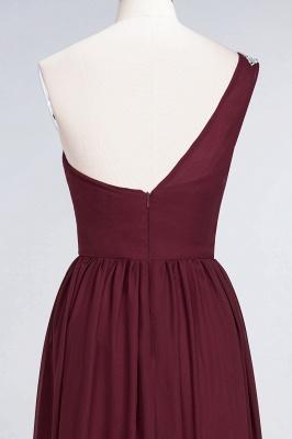 Sexy A-line Flowy One-Shoulder Sleeveless Ruffles Floor-Length Bridesmaid Dress UK UK with Beadings_6