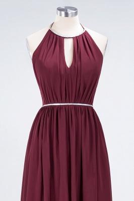 Sexy A-line Flowy Halter Sleeveless Floor-Length Bridesmaid Dress UK UK with Beading Sash_4