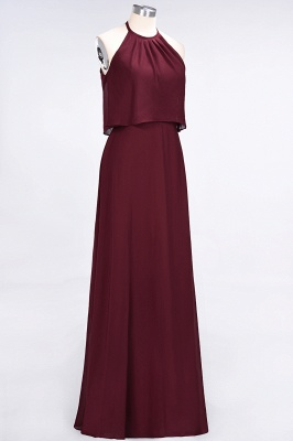 Sexy A-line Flowy Jewel Sleeveless Floor-Length Bridesmaid Dress UK UK_4