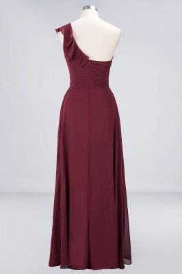 Sexy A-line Flowy One-Shoulder Sweetheart Sleeveless Floor-Length Bridesmaid Dress UK UK with Ruffles_2