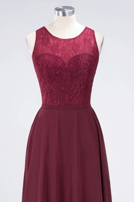 Sexy A-line Flowy Lace Jewel Sleeveless Hollowout Floor-Length Bridesmaid Dress UK UK_4