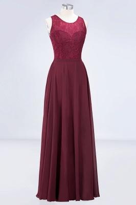 Sexy A-line Flowy Lace Jewel Sleeveless Hollowout Floor-Length Bridesmaid Dress UK UK_3