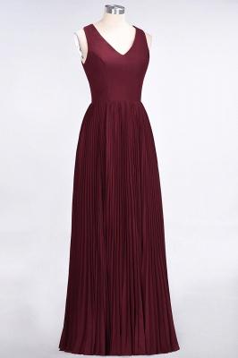 Sexy A-line Satin Flowy Alluring V-neck Sleeveless Floor-Length Bridesmaid Dress UK UK with Ruffles_3