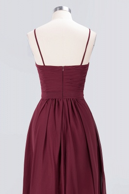 Sexy A-line Flowy Sweetheart Spaghetti-Straps Backless Floor-Length Bridesmaid Dress UK UK with Ruffles_6