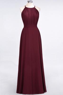 Sexy A-line Flowy Jewel Sleeveless Floor-Length Bridesmaid Dress UK UK with Ruffles_1