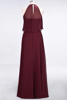 Sexy A-line Flowy Jewel Sleeveless Floor-Length Bridesmaid Dress UK UK_3