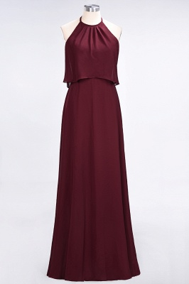 Sexy A-line Flowy Jewel Sleeveless Floor-Length Bridesmaid Dress UK UK_2