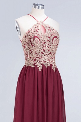 Sexy A-line Flowy Spaghetti-Straps Sleeveless Backless Floor-Length Bridesmaid Dress UK UK with Appliques_5