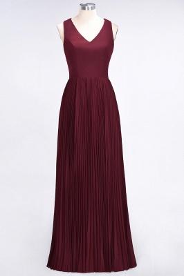 Sexy A-line Satin Flowy Alluring V-neck Sleeveless Floor-Length Bridesmaid Dress UK UK with Ruffles_1