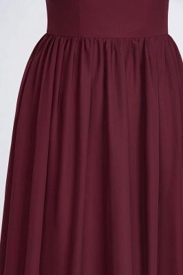 Sexy A-line Flowy One-Shoulder Sleeveless Ruffles Floor-Length Bridesmaid Dress UK UK with Beadings_7