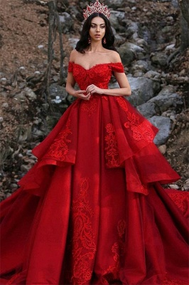 Luxury Appliques Off-the-Shoulder Sleeveless Prom Dress UK_1