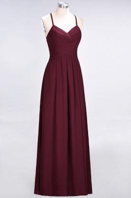 Sexy A-line Flowy Halter Alluring V-neck Sleeveless Floor-Length Bridesmaid Dress UK UK with Ruffles_4