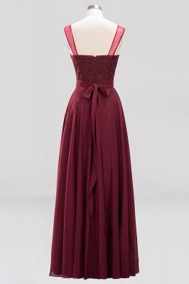 A-Line Light Chiffon Tulle Lace Beadings Jewel Sleeveless Sweep Train Bridesmaid Dress UKes UK UK with Sash_2