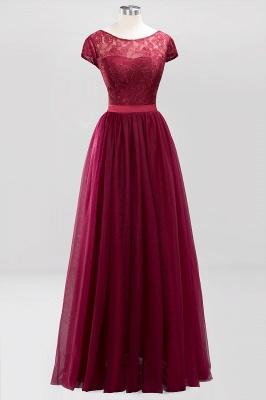 A-Line Light Chiffon Jewel Sleeveless Sweep Train Bridesmaid Dress UKes UK UK with Ruffles_1