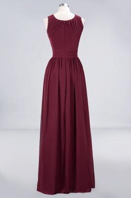 Sexy A-line Flowy Round-Neck Sleeveless Floor-Length Bridesmaid Dress UK UK with Ruffles_2