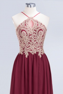 Sexy A-line Flowy Spaghetti-Straps Sleeveless Backless Floor-Length Bridesmaid Dress UK UK with Appliques_4