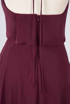 Sexy A-line Flowy Halter Sleeveless Short length Bridesmaid Dress UK UK with Ruffles_5