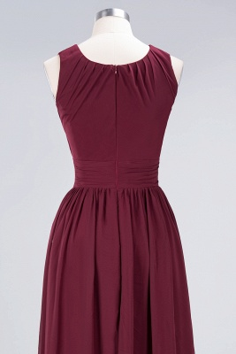 Sexy A-line Flowy Round-Neck Sleeveless Floor-Length Bridesmaid Dress UK UK with Ruffles_6