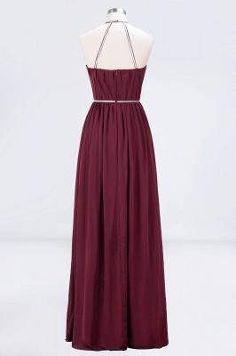 Sexy A-line Flowy Halter Sleeveless Floor-Length Bridesmaid Dress UK UK with Beading Sash_2