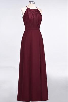 Sexy A-line Flowy Jewel Sleeveless Floor-Length Bridesmaid Dress UK UK with Ruffles_3