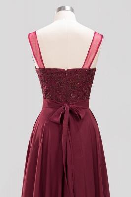 A-Line Light Chiffon Tulle Lace Beadings Jewel Sleeveless Sweep Train Bridesmaid Dress UKes UK UK with Sash_5