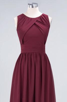Sexy A-line Flowy Round-Neck Sleeveless Floor-Length Bridesmaid Dress UK UK with Ruffles_4