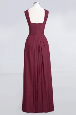 Sexy A-line Flowy Alluring V-neck Straps Sleeveless Floor-Length Bridesmaid Dress UK UK with Ruffles_2
