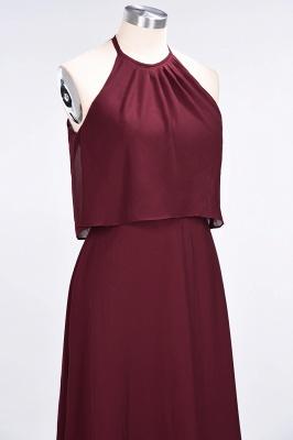 Sexy A-line Flowy Jewel Sleeveless Floor-Length Bridesmaid Dress UK UK_6