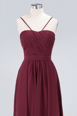 Sexy A-line Flowy Sweetheart Spaghetti-Straps Backless Floor-Length Bridesmaid Dress UK UK with Ruffles_4