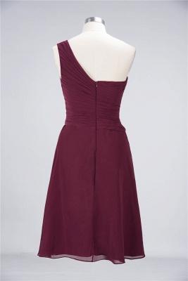 Sexy A-line Flowy One-Shoulder Sweetheart Sleeveless Short length Bridesmaid Dress UK UK with Ruffles_36