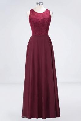 Sexy A-line Flowy Lace Jewel Sleeveless Hollowout Floor-Length Bridesmaid Dress UK UK_1