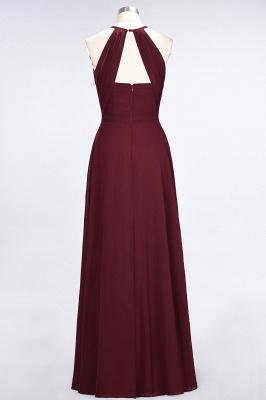 Sexy A-line Flowy Jewel Sleeveless Floor-Length Bridesmaid Dress UK UK with Ruffles_2