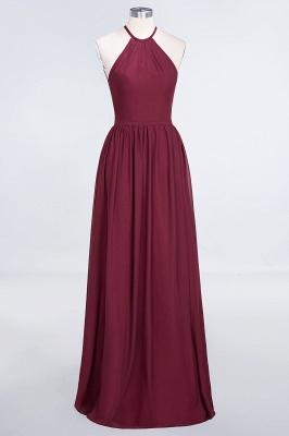 Sexy A-line Flowy Halter Sleeveless Floor-Length Bridesmaid Dress UK UK with Ruffles_1