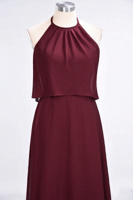 Sexy A-line Flowy Jewel Sleeveless Floor-Length Bridesmaid Dress UK UK_5