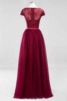 A-Line Light Chiffon Jewel Sleeveless Sweep Train Bridesmaid Dress UKes UK UK with Ruffles_2