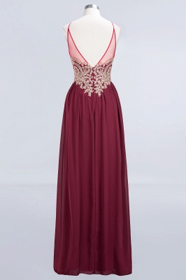Sexy A-line Flowy Spaghetti-Straps Sleeveless Backless Floor-Length Bridesmaid Dress UK UK with Appliques_2
