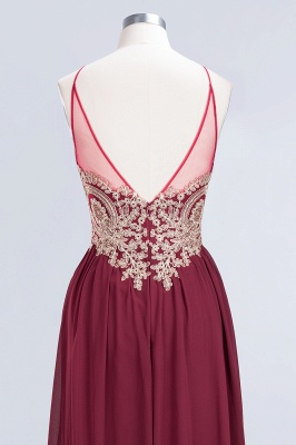 Sexy A-line Flowy Spaghetti-Straps Sleeveless Backless Floor-Length Bridesmaid Dress UK UK with Appliques_6