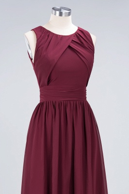 Sexy A-line Flowy Round-Neck Sleeveless Floor-Length Bridesmaid Dress UK UK with Ruffles_5