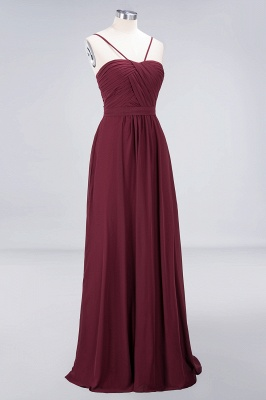 Sexy A-line Flowy Sweetheart Spaghetti-Straps Backless Floor-Length Bridesmaid Dress UK UK with Ruffles_3